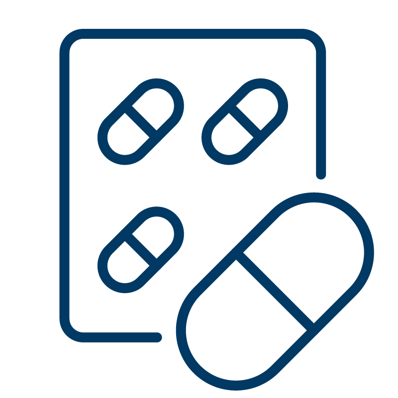 Packet of pills icon