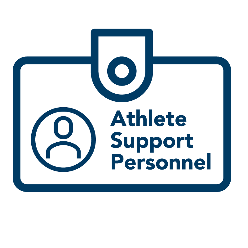 Athlete Support Personnel name tag